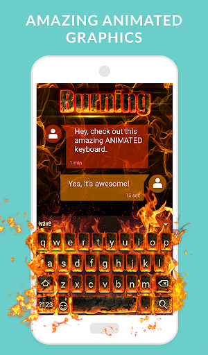 Wave Animated Keyboard + Emoji screenshot 2