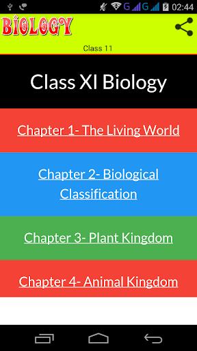 Class 11 Biology Solutions screenshot 1