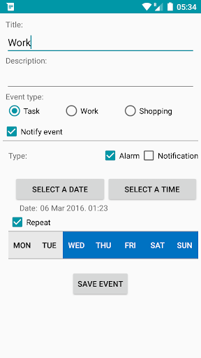 Reminder App with alarm 2 تصوير الشاشة