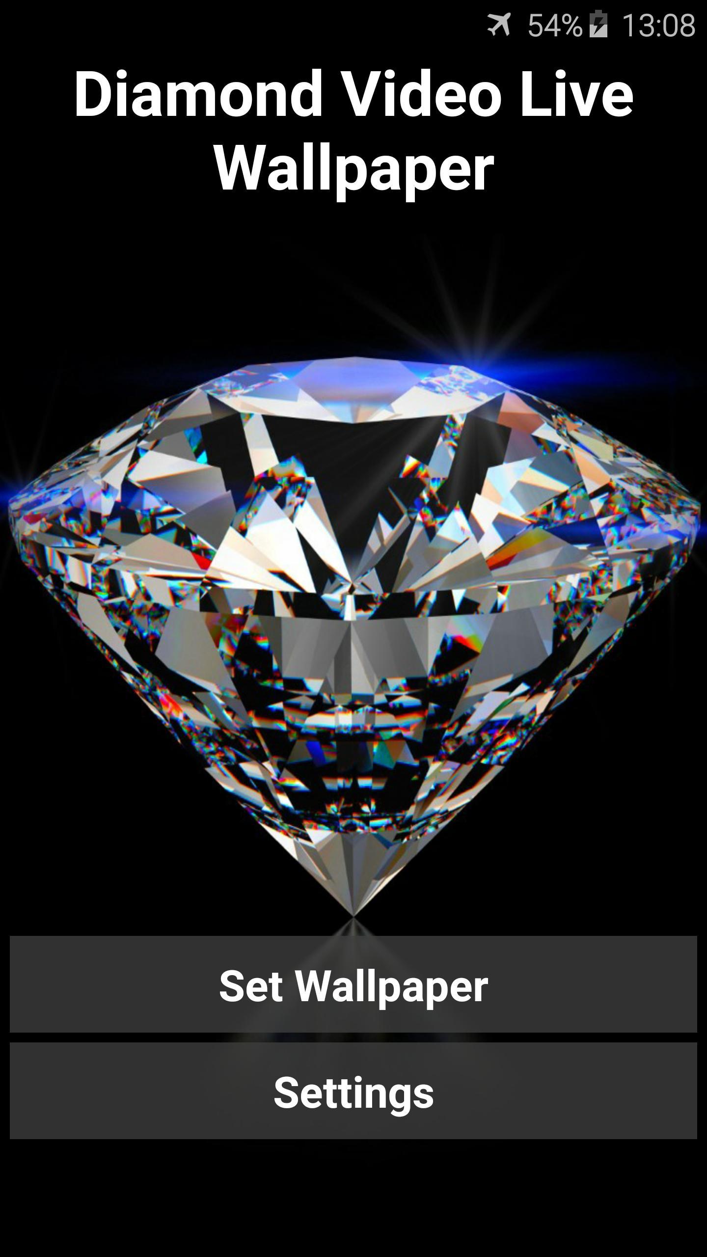 Diamond Video Live Wallpaper 1 تصوير الشاشة