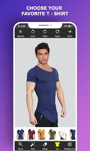 Man T-Shirt Suit Photo Editor screenshot 3