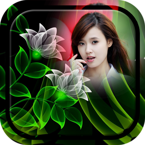 Neon Flower Photo Frame do icon