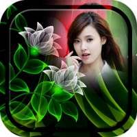 Neon Flower Photo Frame on 9Apps
