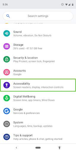 Android Accessibility Suite screenshot 2