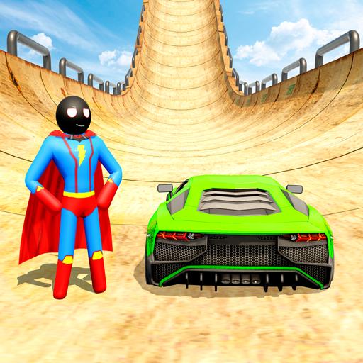 Stickman Superhero Car Stunt GT Racing icon