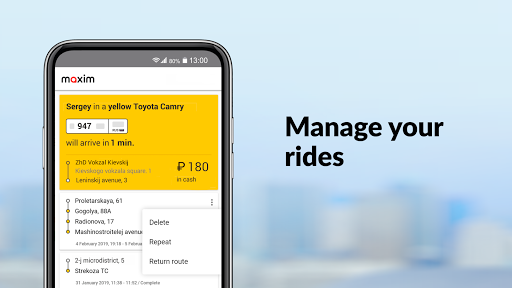 maxim — order taxi, food and groceries delivery screenshot 4