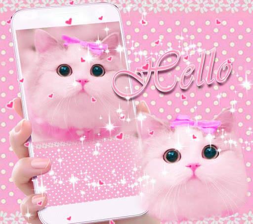 Cute Kitty theme Pink Bow Kitty 2 تصوير الشاشة
