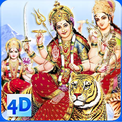4D Maa Durga Live Wallpaper أيقونة