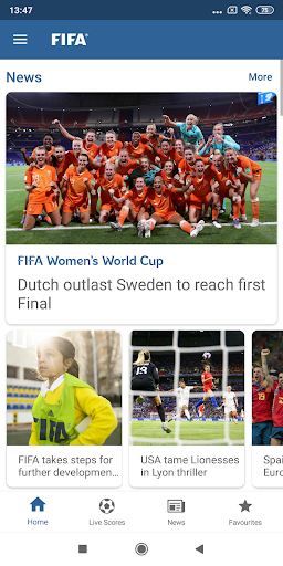 FIFA - Tournaments, Soccer News & Live Scores 1 تصوير الشاشة