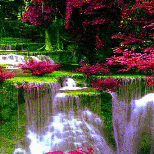 Waterfall Flowers LWP أيقونة