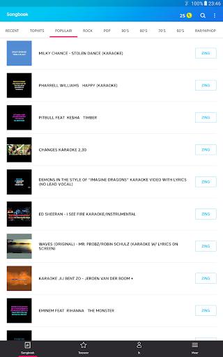 Karaoke - Zing onbeperkt karaoke - liedjes screenshot 12
