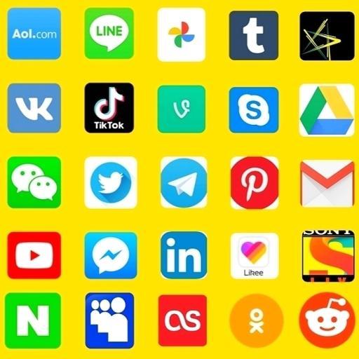 All social media apps 2020 أيقونة