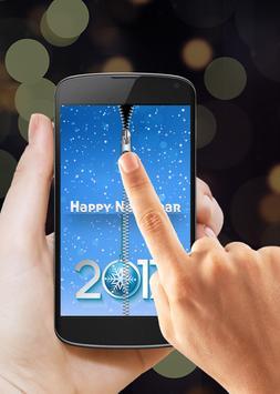 New Year 2017 Zipper Lock screenshot 1