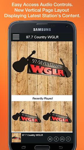 97.7 Country WGLR screenshot 2