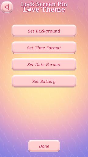 Lock Screen Pin Love Theme screenshot 5