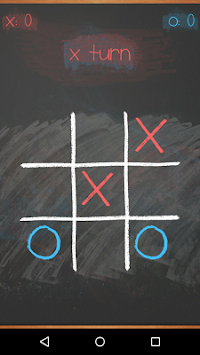 Tic Tac Toe on blackboard 3 تصوير الشاشة