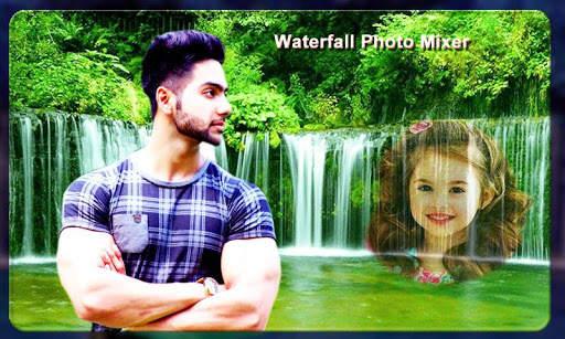 Waterfall Photo Blender : Photo Mixer स्क्रीनशॉट 3