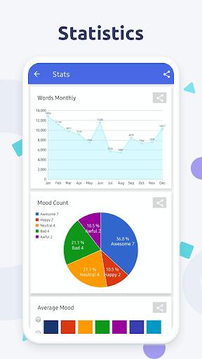 Diaro - Diary, Journal, Mood Tracker with Lock screenshot 7