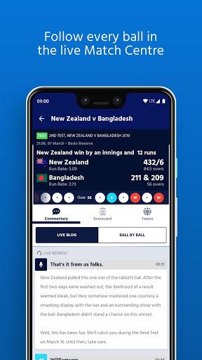 ICC - Live International Cricket Scores & News 8 تصوير الشاشة