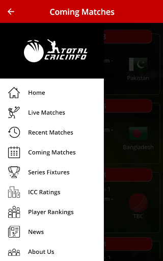Live Cricket Scores & Updates -Total Cricinfo 6 تصوير الشاشة