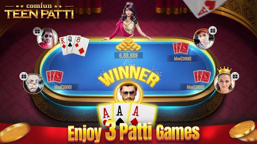 Teen Patti Comfun-Indian 3 Patti Card Game Online 3 تصوير الشاشة