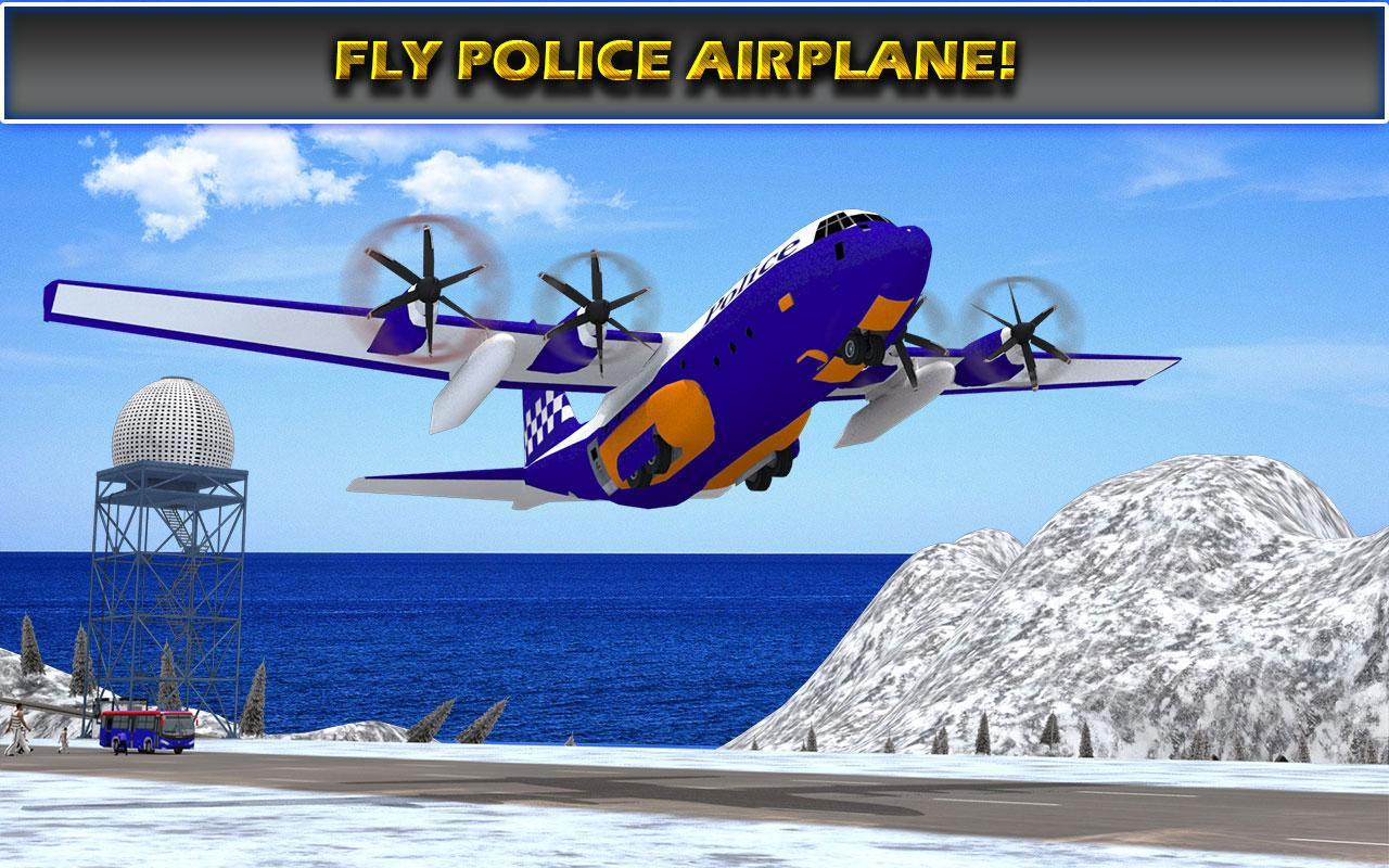 US Police Airplane Cop Dog Transporter Kids Games screenshot 16