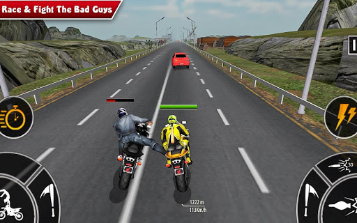 Moto Bike Attack Race 3d games screenshot 2