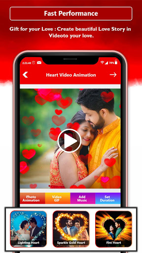 Heart Photo Effect Video Maker With Music screenshot 5