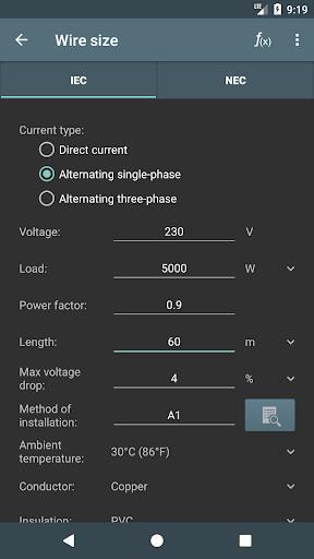 Electrical Calculations screenshot 2