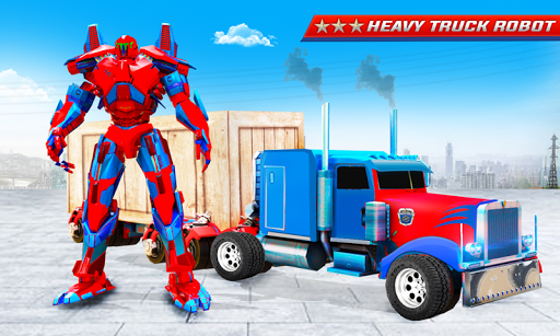 Grand Police Truck Robot War Transform Robot Games screenshot 1