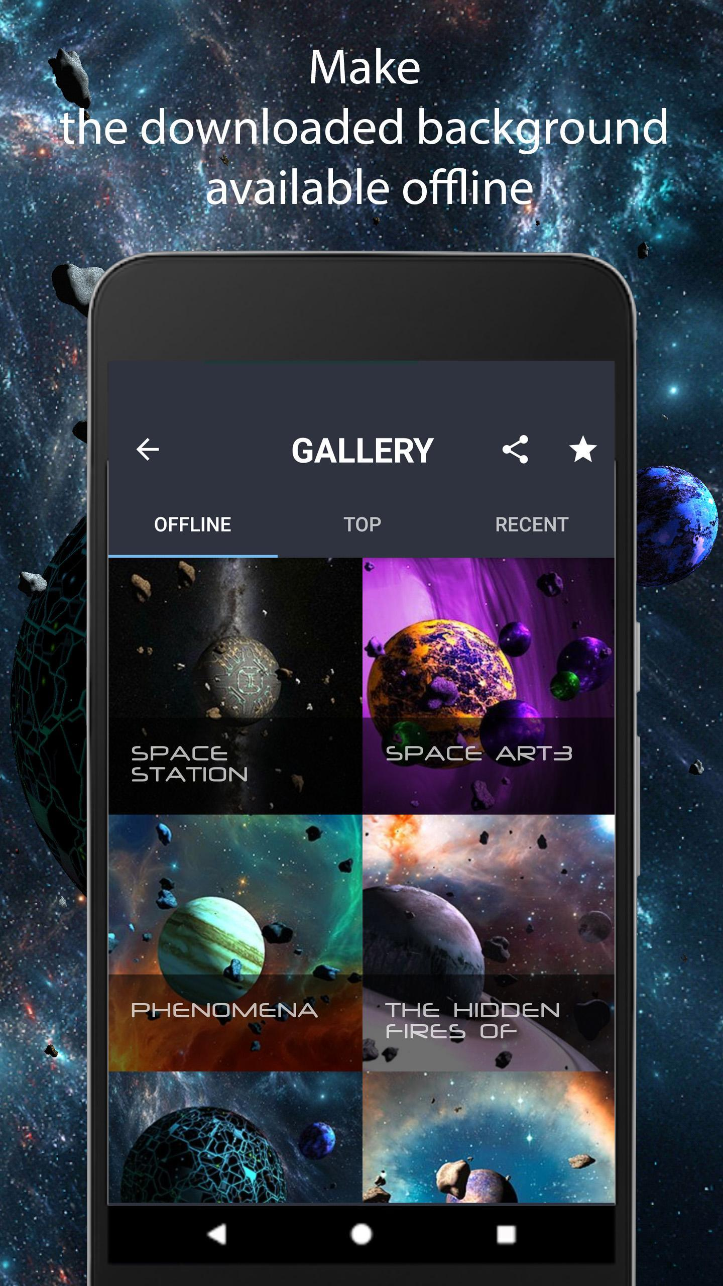 Asteroids 3D live wallpaper 2 تصوير الشاشة
