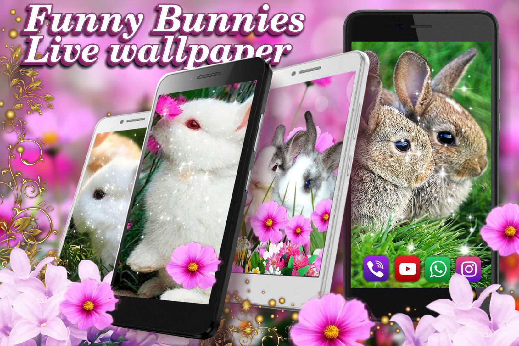 Funny Bunnies live wallpaper 7 تصوير الشاشة