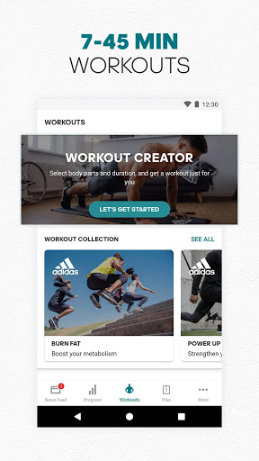 adidas Training by Runtastic - Workout Fitness App screenshot 4