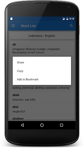 Kamus Bahasa Inggris Offline screenshot 4