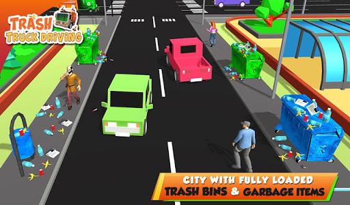 Urban Garbage Truck Driving - Waste Transporter screenshot 12