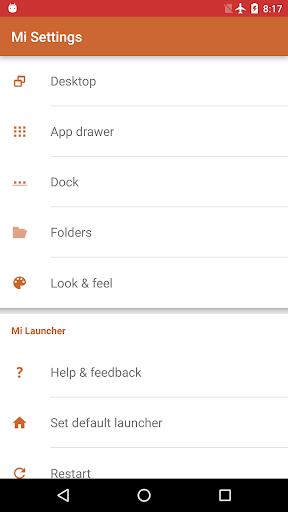 Mi Launcher 4 تصوير الشاشة