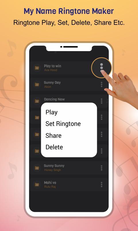 My Name Ringtone Maker 3 تصوير الشاشة