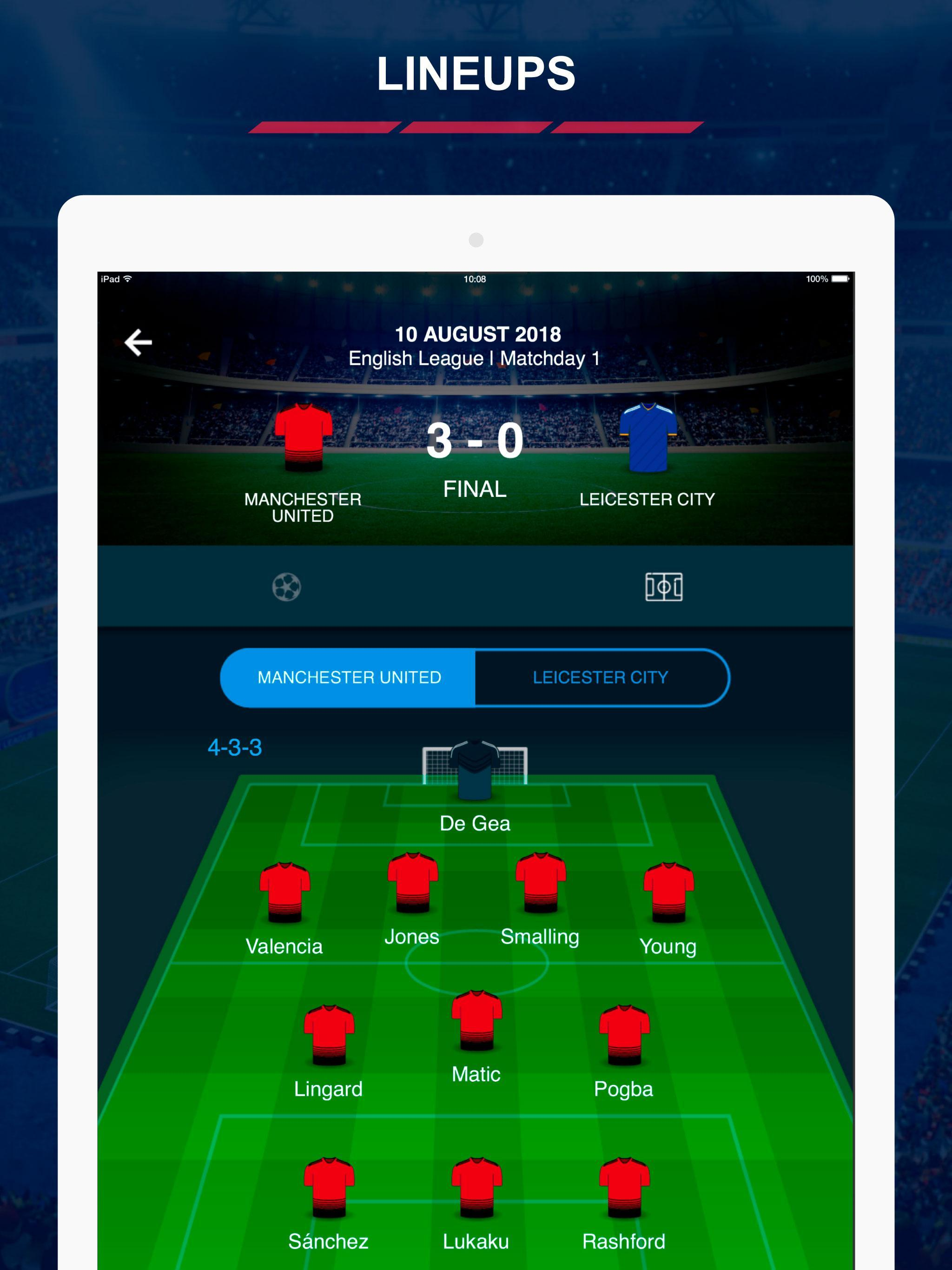 English Football Scores 7 تصوير الشاشة