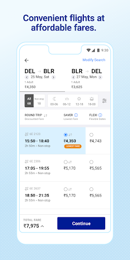 IndiGo-Flight Ticket Booking App screenshot 2