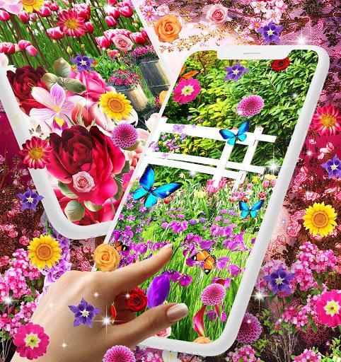 Flower garden live wallpaper 3 تصوير الشاشة