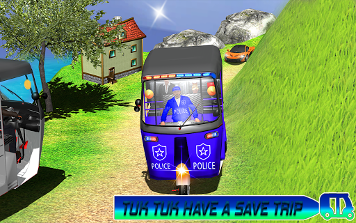 Police Tuk Tuk Auto Rickshaw Driving Game 2021 screenshot 10