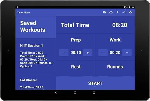 Simple HIIT Interval Timer 15 تصوير الشاشة