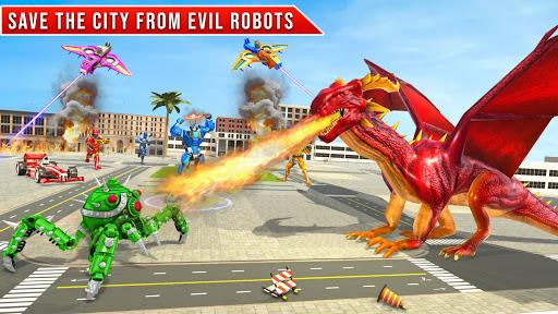 Formula Car Robot Transform - Flying Dragon Robot screenshot 8