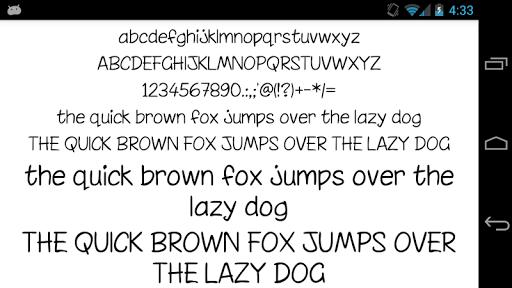 Fonts for FlipFont 50 Written screenshot 2