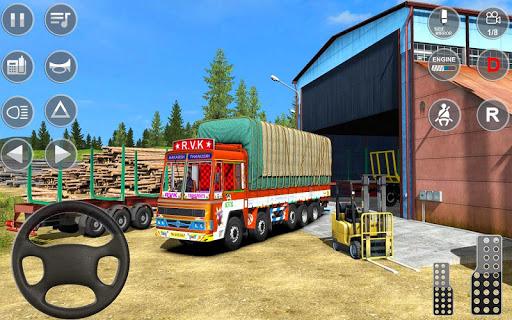 Indian Truck Spooky Stunt : Cargo Truck Driver screenshot 1
