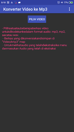 Konverterkumpulanuntuk Video to mp3, aac, mp2, wav screenshot 4