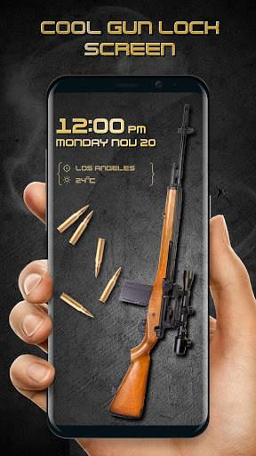 Gun shooting lock screen screenshot 1