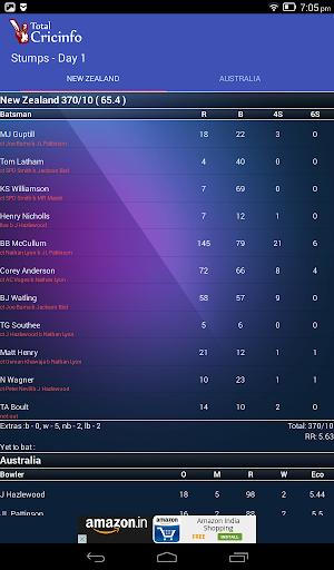 Live Cricket Scores & Updates -Total Cricinfo 11 تصوير الشاشة