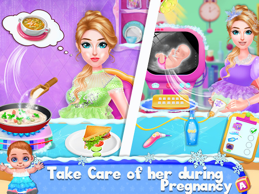 Ice Princess Pregnant Mom and Baby Care Games screenshot 2