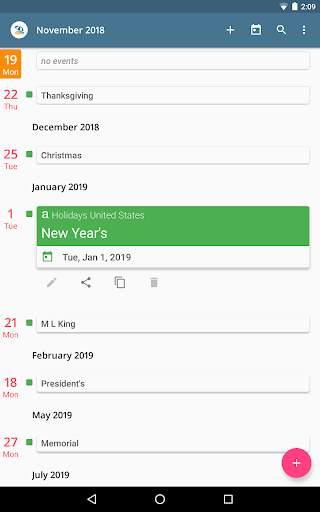 aCalendar - a calendar app for Android screenshot 9